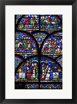 Framed Stained Glass I Print