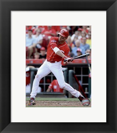 Framed Joey Votto 2015 Action Print