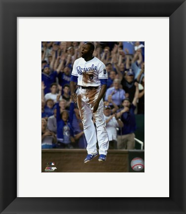 Framed Lorenzo Cain 2015 Action Print