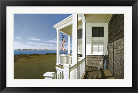 Framed Porch View Print