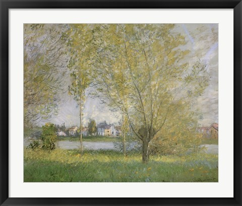 Framed Willows Of Vetheuil Print