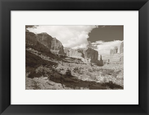 Framed Sepia Cliffs 2 Print