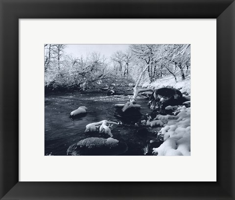 Framed Buffalo River Snow Print