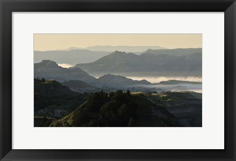 Framed Green Mountain Landscape Print