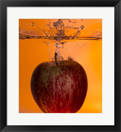 Framed Apple Underwater I Print