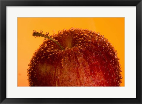 Framed Red Fruit And Water Droplets Print