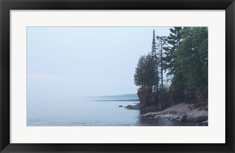 Framed Lake Superior 4 Print