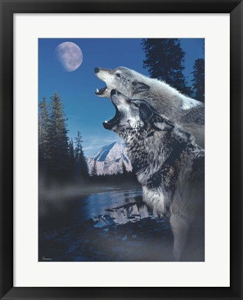 Framed Silvery Moon Print