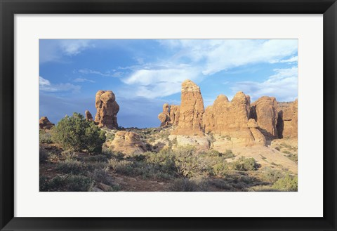 Framed Rocky Landscape Under Blue Sky 10 Print