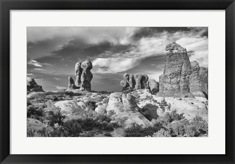 Framed Valley Of Rock And Sky Print