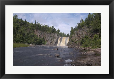 Framed North Shore Waterfall And Lake II Print