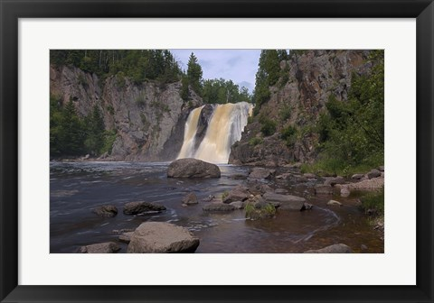 Framed North Shore Waterfall And Lake I Print