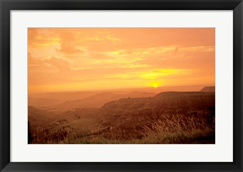 Framed Theodore Roosevelt National Park Sunset 56 Print