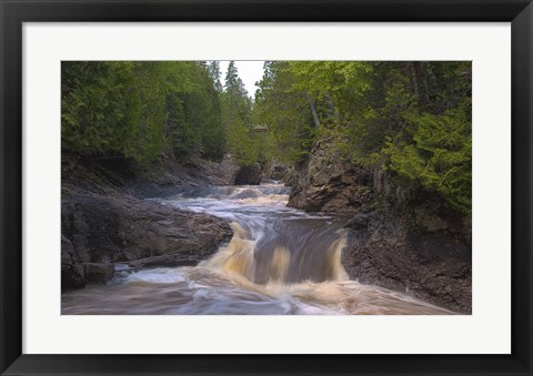 Framed North Shore Rushing Water Print