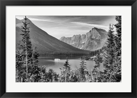 Framed Mountains Through Trees Print