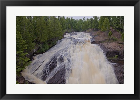 Framed North Shore Rushing Water Rapids Print