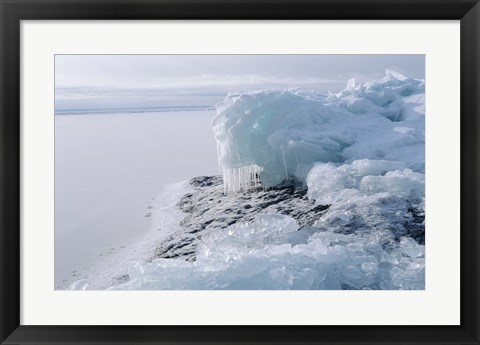 Framed Lake Superior Winter Snow 21 Print