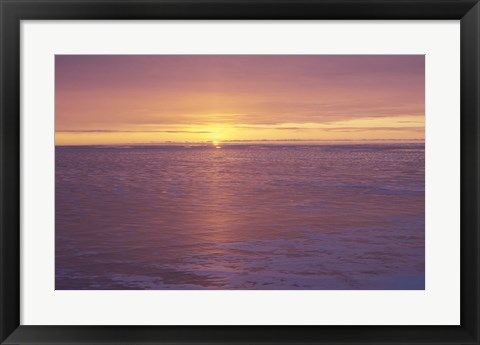 Framed Lake Superior Sunset 31 Print