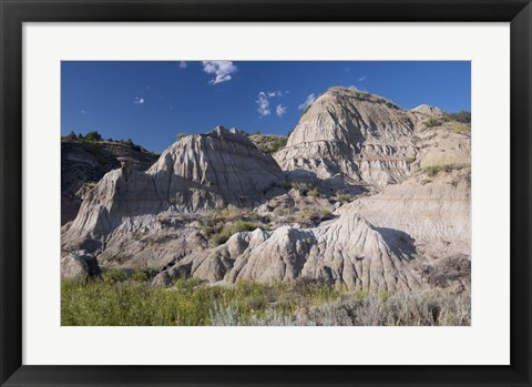 Framed White Mountain Rock Terrain Print