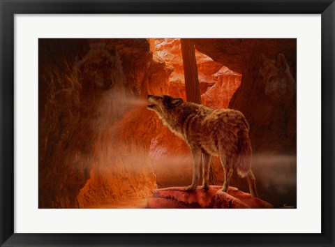 Framed Spirits Of Mist Canyon Print