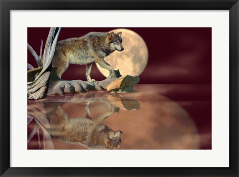 Framed Walking On The Moon Print