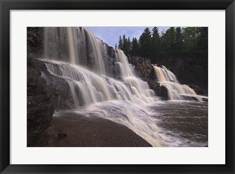 Framed North Shore Waterfalls II Print