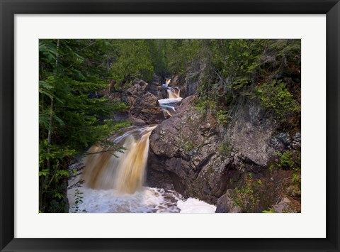 Framed North Shore Waterfall Rapids Print