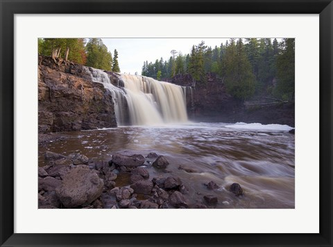 Framed North Shore Rocky Waterfall View I Print
