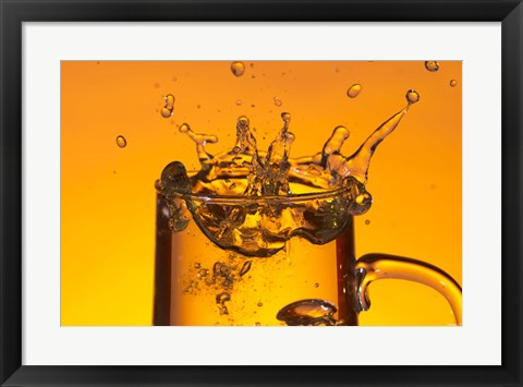 Framed Glass Mug On Bar Splashing II Print