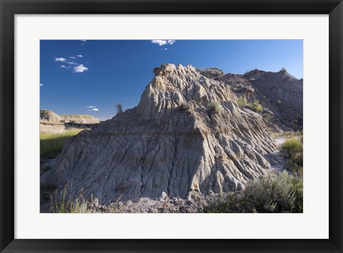 Framed White Mountain Rock Terrain Closeup Print