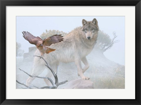 Framed Silent Encounter Print