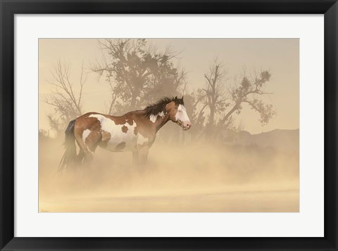 Framed Misty River Horse Print