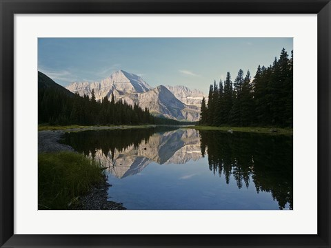 Framed White Mountain Reflection Print