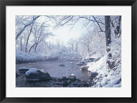 Framed Buffalo River Snow 45 Print