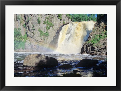 Framed Lake Superior Waterfall 10 Print