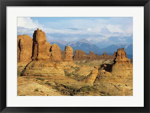 Framed Rocky Landscape And Mountains 1 Print