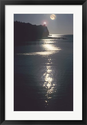 Framed Lake Superior Moon 12 Print