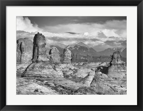Framed Valley Of Rock And Sky With Mountains Print