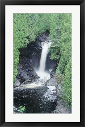 Framed Lake Superior Waterfall 11 Print