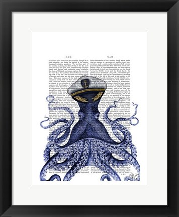 Framed Captain Octopus Print