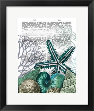 Framed Starfish Under the Sea Print
