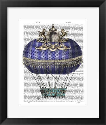 Framed Baroque Fantasy Balloon 4 Print
