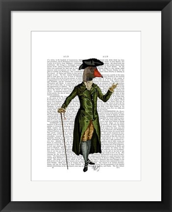 Framed Goose in Green Regency Coat Print
