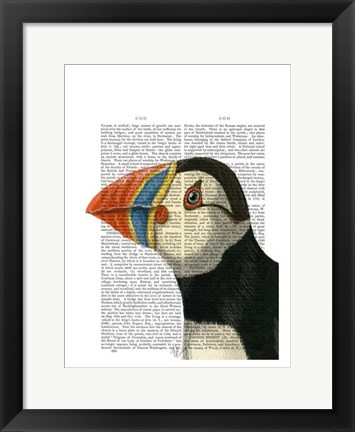 Framed Puffin Portrait Print