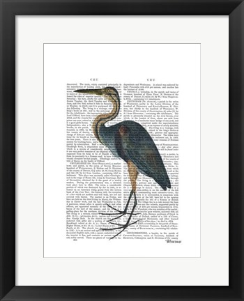 Framed Blue Heron 3 Print
