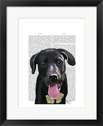Framed Black Labrador Plain Print