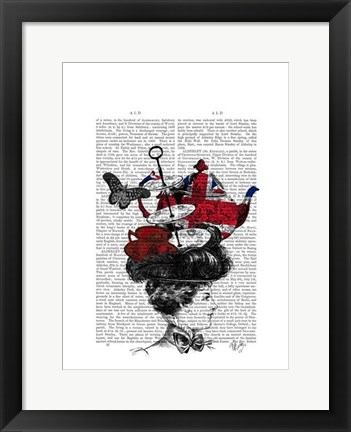 Framed British Afternoon Tea Hat Print