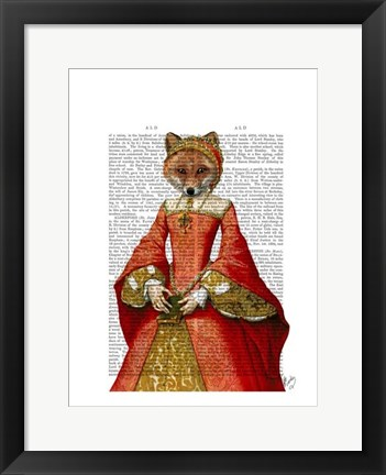 Framed Fox Queen Print