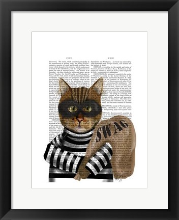Framed Cat Burglar Print