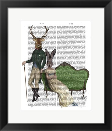 Framed Mr Deer and Mrs Rabbit Print